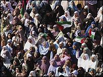 Mujeres en una protesta en Egipto