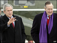 George W Bush and George H W Bush