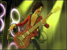 Scene from Guitar Hero