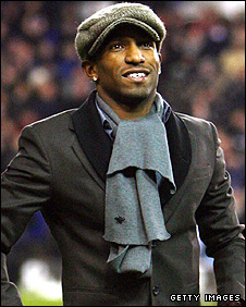 Jermain Defoe was greeted by the Spurs on Tuesday