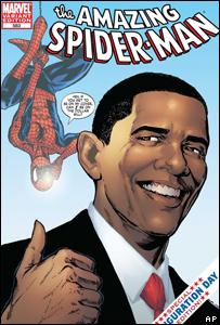 Obama aparece en la portada del Hombre Araña.