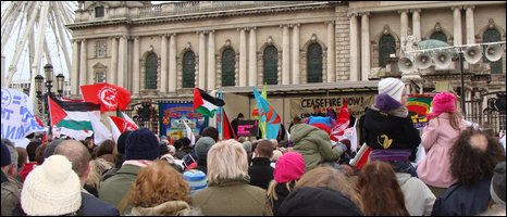 Rally at Belfast City Hall