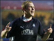 Falkirk midfielder Scott Arfield