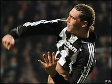 Andy Carroll equalised with his first Premier League goal