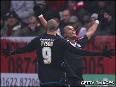 Nathan Tyson and Robert Earnshaw