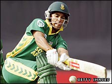 JP Duminy pictured in an earlier match for South Africa