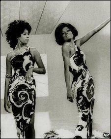 Mary Wilson (left) and Diana Ross, of The Supremes