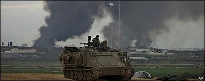 Un tanque israelí cerca de la frontera de la Franja de Gaza