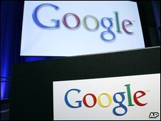 Google signs inside Google headquarters in Mountain View, California, US, file pic from October 2008