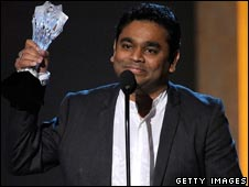 AR Rahman at the Critics' Choice awards in January 2009