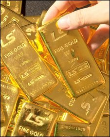 Pure 1,000-gram gold bars