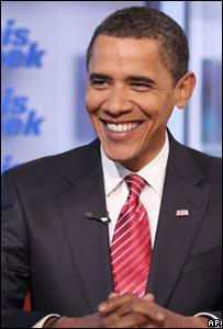 Barack Obama durante una entrevista.