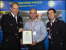 Chief constable Sir Norman Bettison, Davide Longo and Mick Amos