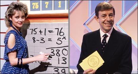 Carol Vorderman on Countdown and Henry Kelly on Going for Gold