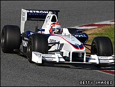 Robert Kubica testing BMW Sauber's interim test car