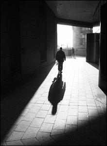 Man walking in the sunshine