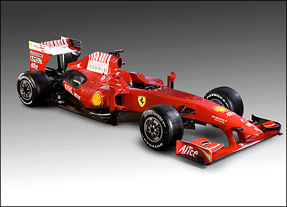A side view of the new Ferrari F60