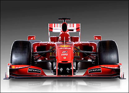 The front view of the Ferrari F60