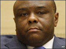 Jean-Pierre Bemba at pre-trial hearings at the Hague on 12 January 2009