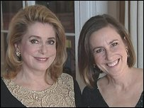 Catherine Deneuve and Kirsty Wark