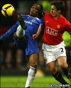 Didier Drogba and Gary Neville