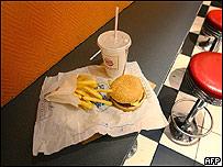 Comida de hamburguesería