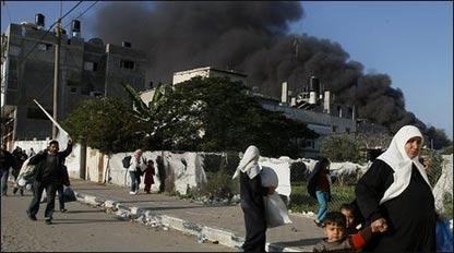 Habitantes de Gaza