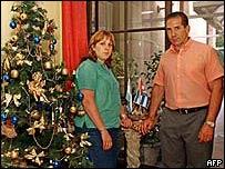 Roberto Quiñones Molina y su esposa Verónica Scarpati. (Foto de archivo)