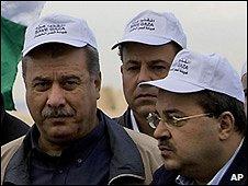 Israeli-Arab members of Knesset Ahmed Tibi (right) and Mohammed Barakah - 7/12/2008