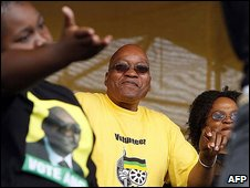 Jacob Zuma at the launch of his campaign (10.1.09)