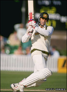 Matthew Hayden in action against England in 1993