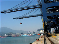 Shenzhen port, south China. File photo