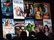 shot of movie posters