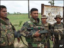 Sri Lanka troops at Elephant Pass