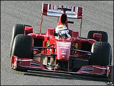Felipe Massa in the new Ferrari