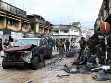 Car bomb Narathiwat 2 Jan 09