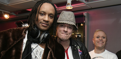 Maxim, Liam Howlett and Keith Flint from The Prodigy