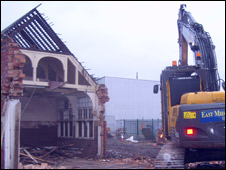 Bulldozers at County Ground