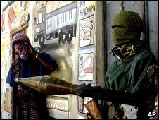 Islamists insurgents in Mogadishu