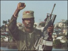 Former rebel leader Prince Johnson