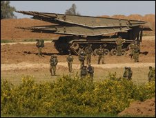 Israeli military on Gaza border