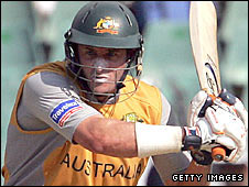 Mike Hussey in action for Australia