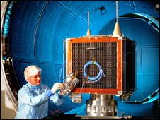 DMC satellite in testing (STFC)