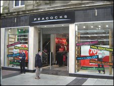 Peacocks store in Queen Street, Cardiff