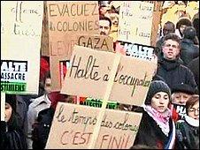 Anti-Israeli protest in Paris
