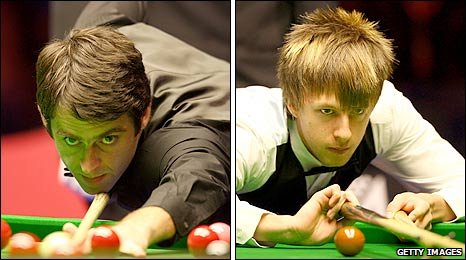 Changing face of snooker perhaps? O'Sullivan and Trump