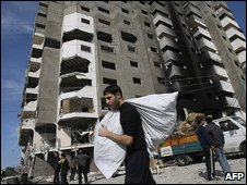 Destroyed building in Gaza City