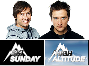 Ski Sunday and High Altitude are presented by Ed Leigh and Graham Bell