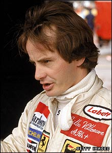Canadian driver Gilles Villeneuve pictured in 1982