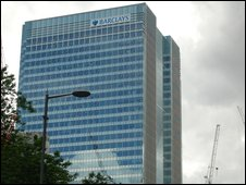 Barclays Capital's Canary Wharf base